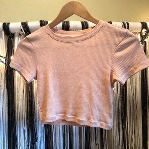 Nude/pale pink crop top